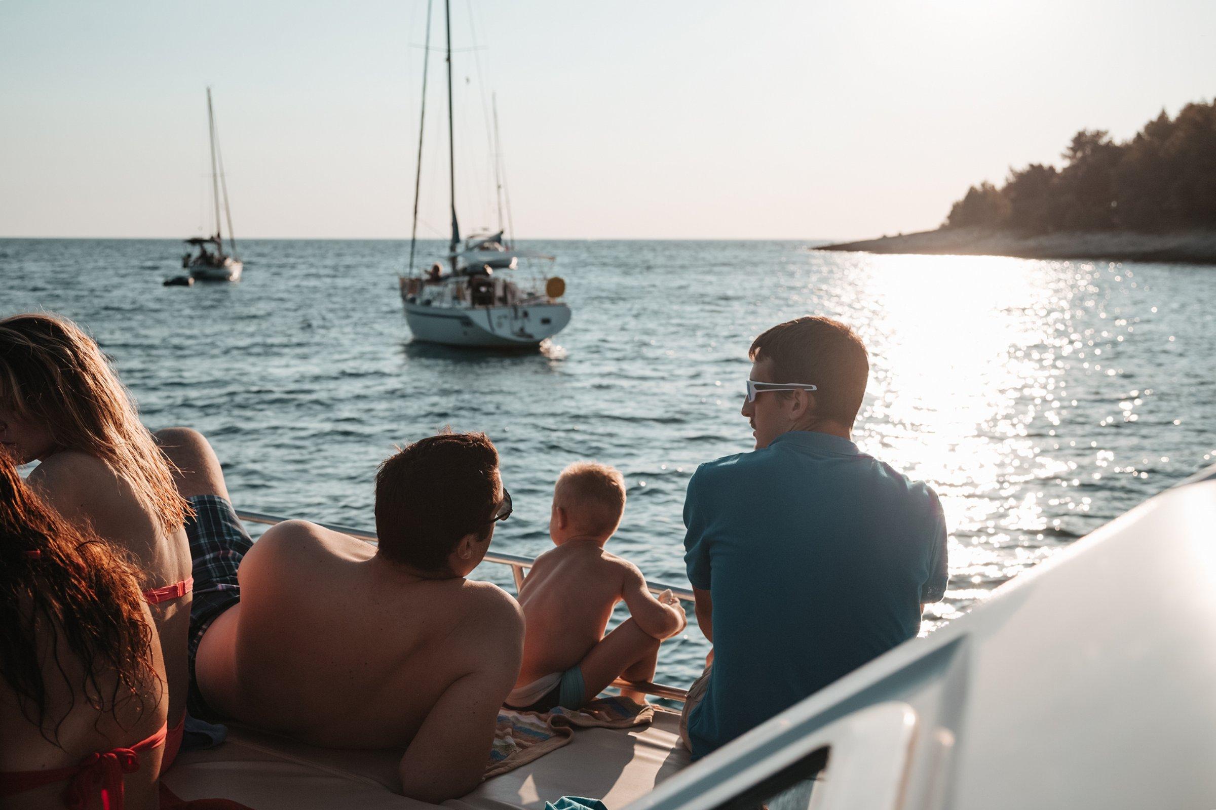 Kamenjak, Lighthouse Porer ,island Ceja, Medulin, swimming